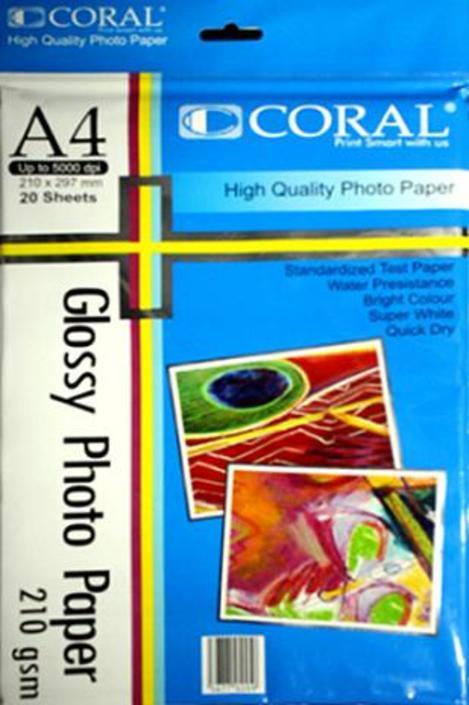 Kertas Foto Glossy Paper Coral 210 Gr