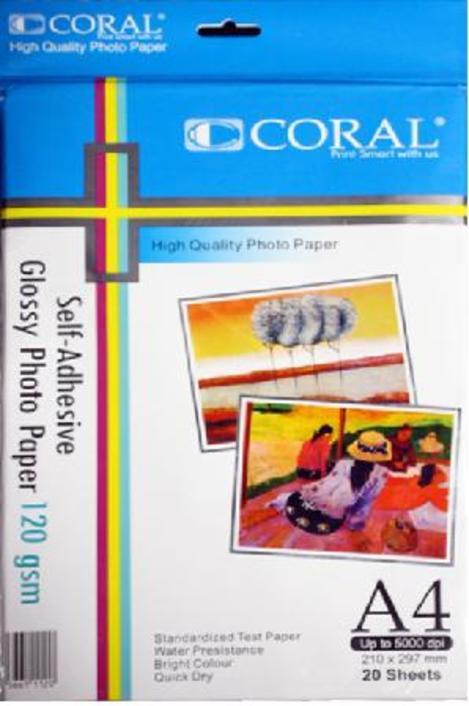 Sticker Glossy Coral 120 Gr