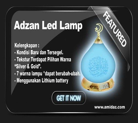 Adzan Led Lamp